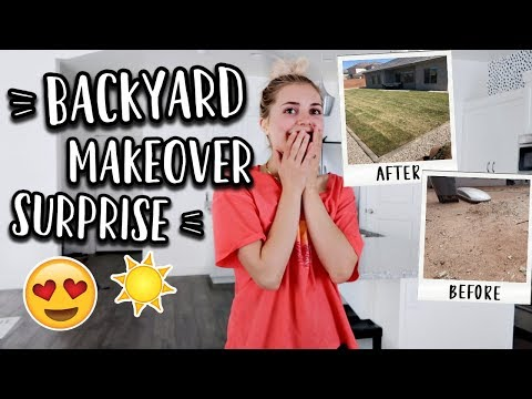 SURPRISING MY WIFE! BACKYARD MAKEOVER!