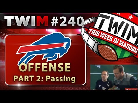 Madden 18 Gameplay | Bills Offensive Scheme Part 2 | Passing Attack