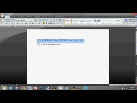 Microsoft Word: How to Capitalize/Lowercase All Selected Words