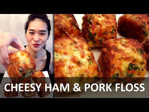 PORK FLOSS CHEESE BUN (Eating Show - Mukbang) Peggie Eats S01E03