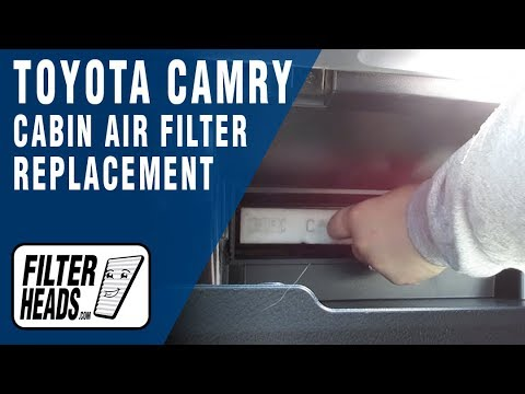How to Replace Cabin Air Filter 2014 Toyota Camry