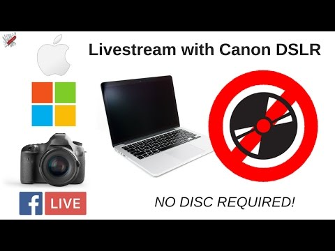 Hook Up Your Canon DSLR Camera to Your Computer for Facebook Live