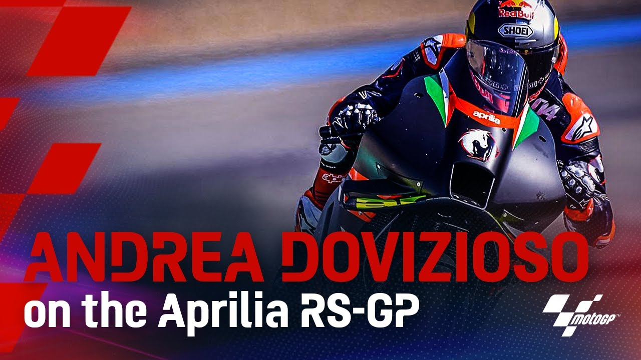 Andrea Dovizioso on board the Aprilia!  👀