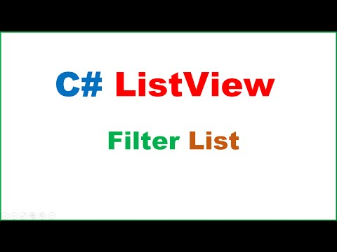 C# ListView Ep.03 : Filter/Search List of Objects