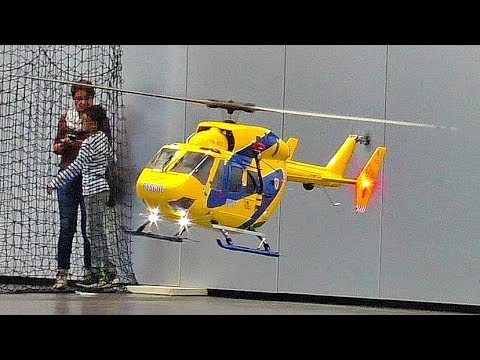 STUNNING AMAZING RC EC-145 SCALE MODEL ELECTRIC HELICOPTER INDOOR FLIGHT DEMONSTRATION