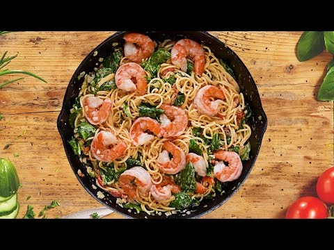 Creamy Tuscan Shrimp Pasta   Easy Pasta Recipes for Beginners   So Yummy