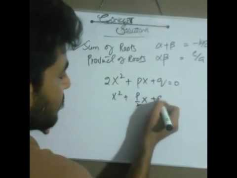 Sum and Product of Roots - Math - I (urdu)