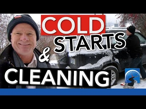 How to Start Your Vehicle in Cold Weather & Clean it Off