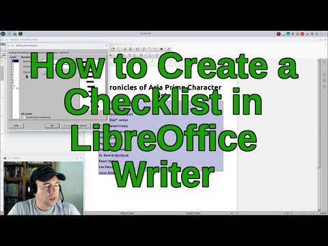 How to Create a Checklist in LibreOffice Writer