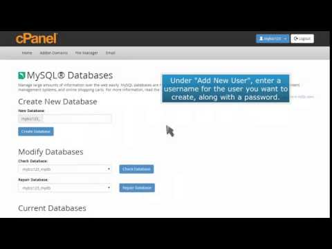 How to create a MySQL Database in cPanel
