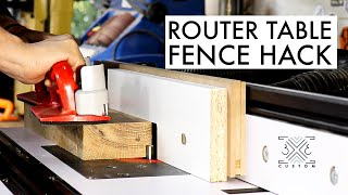 Router Table Hack for Easy Set Up