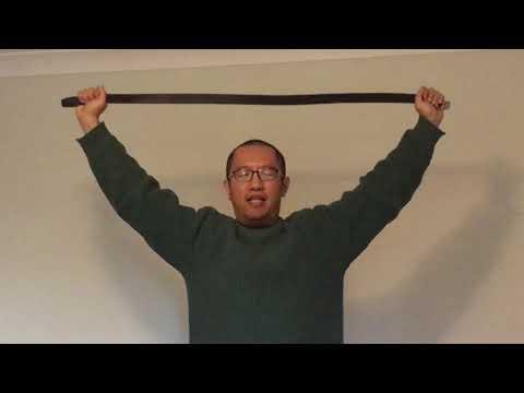 Beginner Yoga Shoulder Stretch With Belt