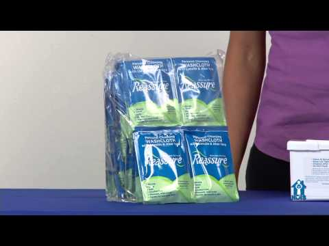 Reassure Personal Cleansing Washcloths