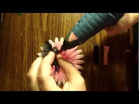 How to Make a Flower Hair Clip Tutorial