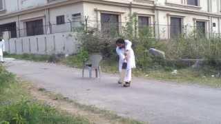 Cricket. Pir Saqib Shaami Hh Bowling & Batting in Pakistan