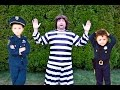 Kid Cops Capture The Escapee Prisoner After He Breaks Out Of Jail A Funny Kids mp3