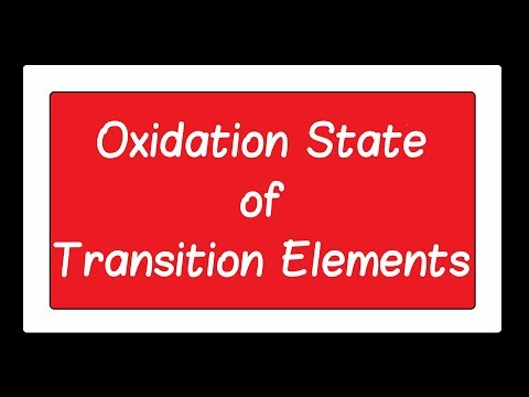 4 Oxidation State of Transition Elements ch2 12th