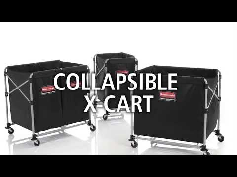 X-Frame Collapsible Waste & Laundry Cart