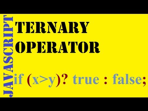 JavaScript: Ternary Operator