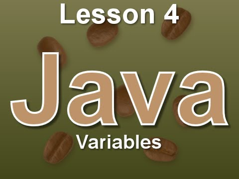 Java Lesson 4: Variables