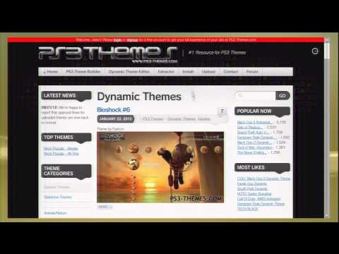 How to download ps3 themes directly to ps3 for free!