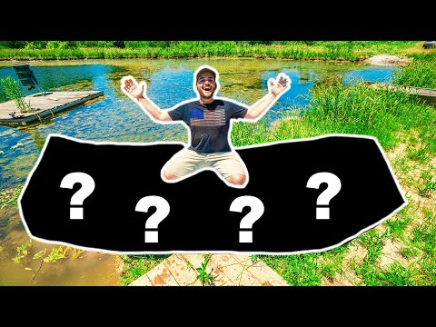 I Bought the WORLD'S WORST BOAT and Took It Fishing in My BACKYARD POND!!! (Bad Idea)