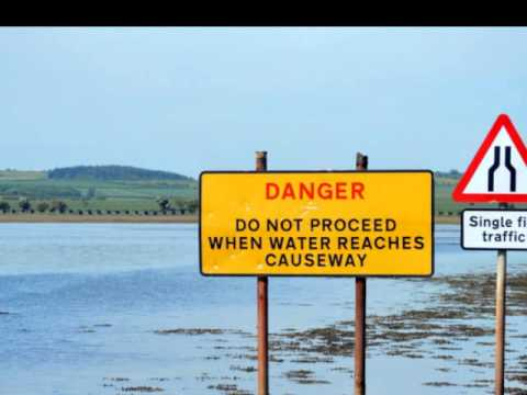 Holy Island is slowly cut off