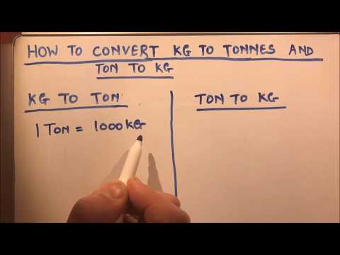 HOW TO  CONVERT KG TO TONNES AND TONNES TO KG