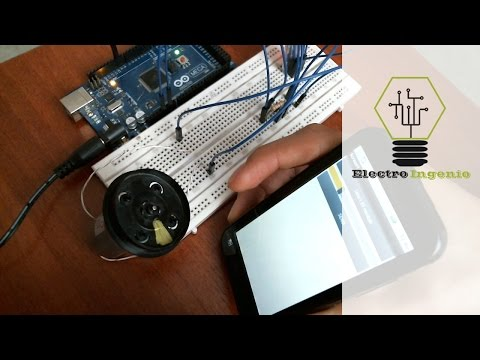 Arduino projects + DC motor speed + mobile App