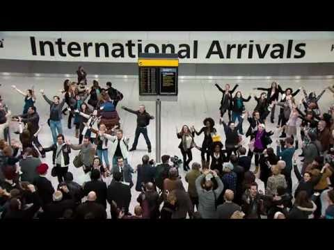 Welcome Back Heathrow Terminal 5 Flash Mob by T-Mobile!