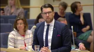 Jimmie Åkesson - replikskiften partiledardebatt