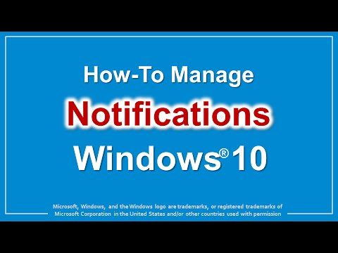 How to Manage Notifications in Windows 10