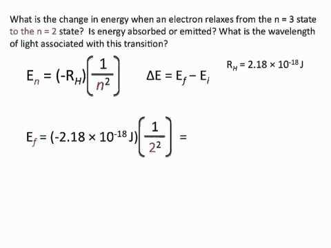 Bohr's Model Problems - Chemistry Tutorial
