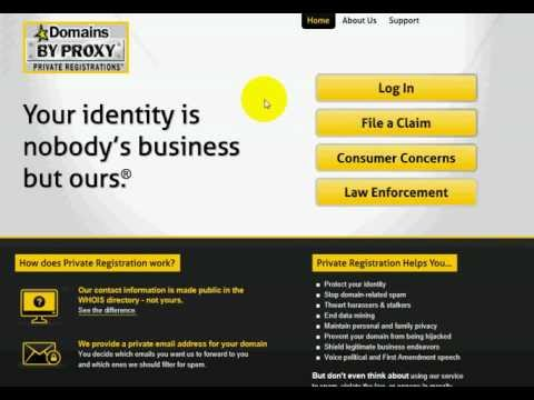 Godaddy.com - How To Remove Privacy On Domains