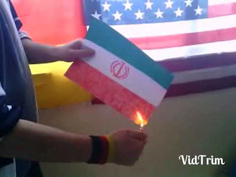 Burn Iran flag