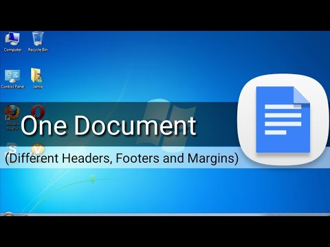 One Document with Different Headers, Footers, Page Numbers and Margins