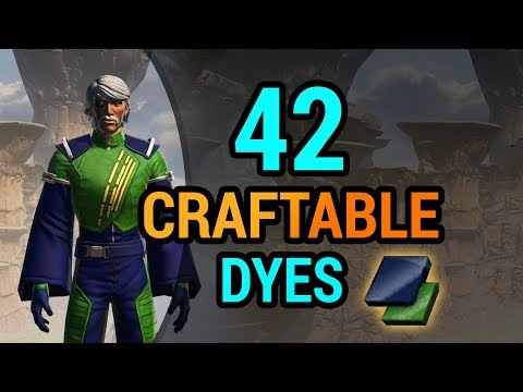 42 Dyes You Can Craft in SWTOR with Artifice