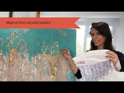How to make fine art from recycled plastic bags
