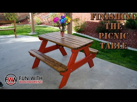Project update - Finishing the 4 ft picnic table