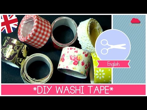 Homemade DIY WASHI TAPE super EASY by ART Tv