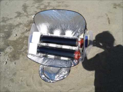 solar cooker using evacuated tubes