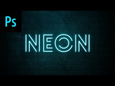 Neon Text Effect Photoshop Tutorial