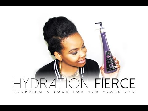 NATURAL HAIR | HYDRATION FIERCE with Entwine Couture (Holiday Hair)