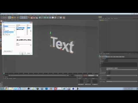 Cinema 4d R12 - How to Make Cool 3d Text