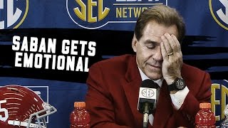 Watch Nick Saban get emotional talking about Kirby Smart