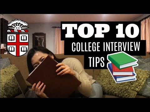 College Interview - WHAT TO DO | Advice From a Brown University Student