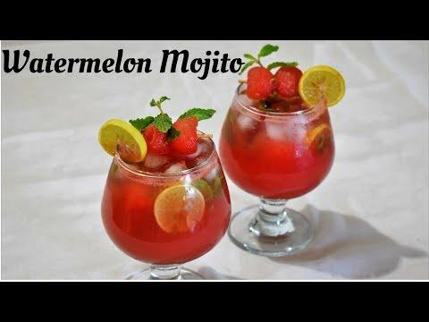 Watermelon Mojito | Virgin Watermelon Mojito Recipe | Watermelon Cooler - Food Connection