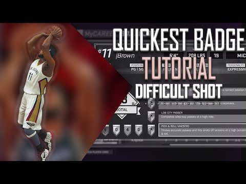 NBA 2K17 BADGE Tutorial - Difficult Shot (BETTER BADGE THEN DEADEYE)