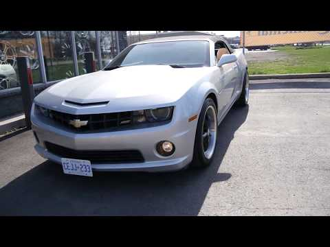 2012 CHEVROLET CAMARO SS WITH 20 INCH STAGGERED RIMS & TIRES