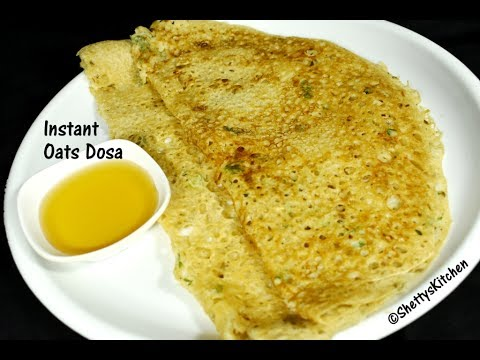 Instant Oats Dosa | oats dosa recipe | healthy and instant dosa recipes